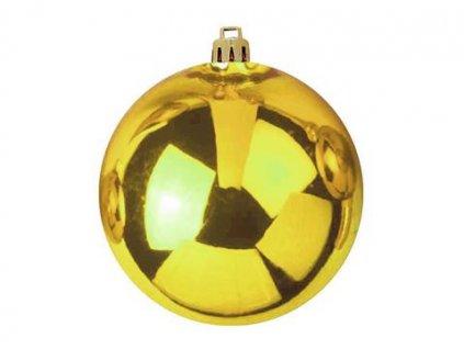 Vánoční ozdoby, 7 cm, zlatá (6 ks)