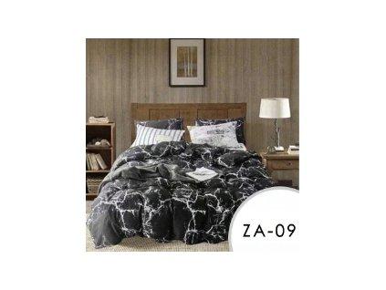 Sada 3 ks ložního povlečení EmaHome - černý mramor / 200 x 220 cm / 2x 70 x 80 cm / ZA-09