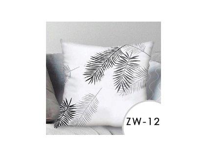 Povlak na polštář EmaHome se vzorem - bílá/černá / 40x40 cm / ZW-12
