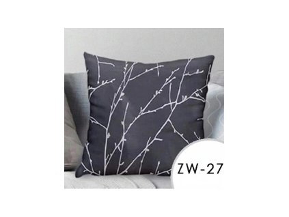 Povlak na polštář EmaHome se vzorem - šedá / 40x40 cm / ZW-27