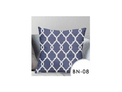 Povlak na polštář EmaHome se vzorem - modrá/bílá / 40x40 cm / BN-08