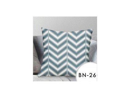 Povlak na polštář EmaHome se vzorem - modrá/bílá / 40x40 cm / BN-26