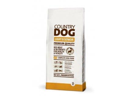 Krmivo pro psy Country dog Light, Senior 15 kg / POŠKOZENÝ OBAL