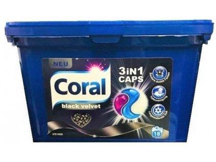 Gelové kapsle Coral 3v1 black velvet / 18ks