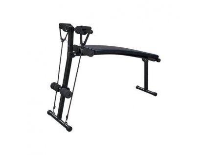 Tréninková lavice s nastavitelnými fitness pásy
