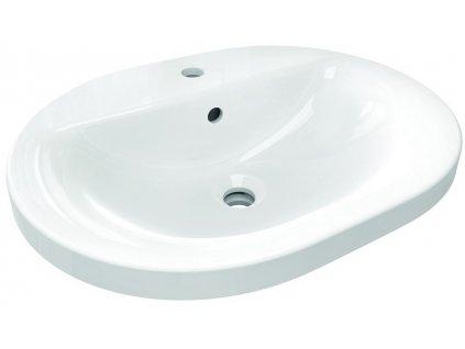 Ideal Standard Connect - Umyvadlo zápustné / 550 x 430 mm / s přepadem / bílá / E503901