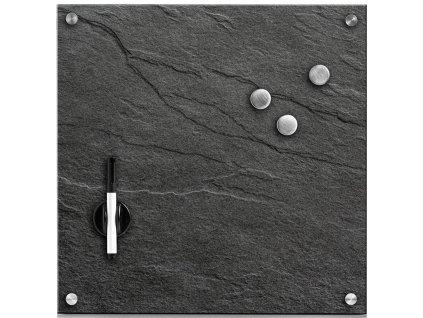 Magnetická nástěnná poznámková deska Zeller / sklo / antracit / 40 x 40 cm / 11688