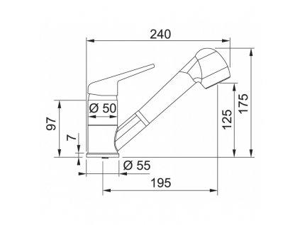 Kuchyňská baterie Franke FC 9547.085 Pískový melír
