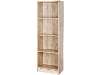 Knihovna s nastavitelnými policemi LBC104H / přírodní
