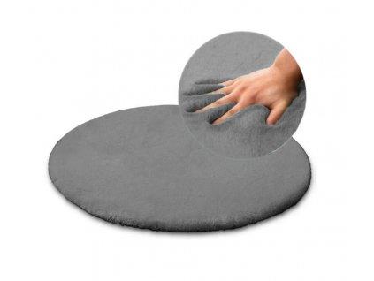 Plyšový koberec SHAGGY RABBIT 100 x 100 cm M. Grey