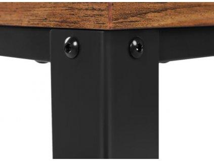 Starožitný konferenční stolek LCT61X / hnědá / černá