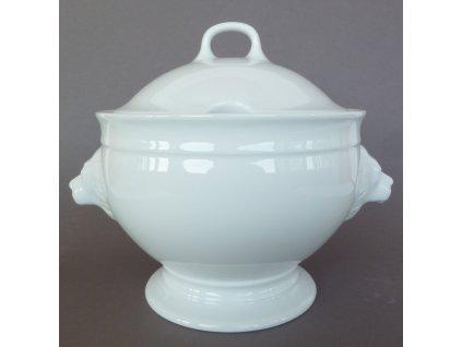 Porcelánová mísa na polévku lví hlava van Well 2,7 l / bílá