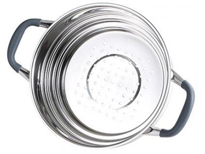 Parní hrnec Masterpro z nerezové oceli / 24 x 10 cm / 4 l / stříbrná