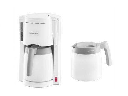 Překapávací kávovar + 2 termokonvice Severin KA 9233 / 800 W / 1 l