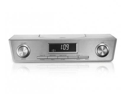 Závěsné kuchyňské rádio Terris KCR 261 / 2 x 0,4 W / stříbrná / OUTLET