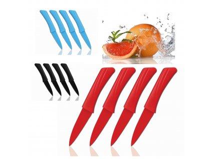 4-dílná sada 19 cm nožů vhodných na krájení zeleniny Cenocco CC-9009 - více barevných variací