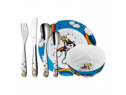 6-dílná sada dětského jídelního setu Jednorožec WMF Unicorn