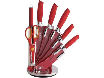 8dílná sada kuchyňských nožů Royalty Line RL-RED8W - červená