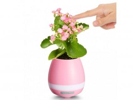 Bluetooth reproduktor/hrající květináč Music Pot - růžový - více barevných variací