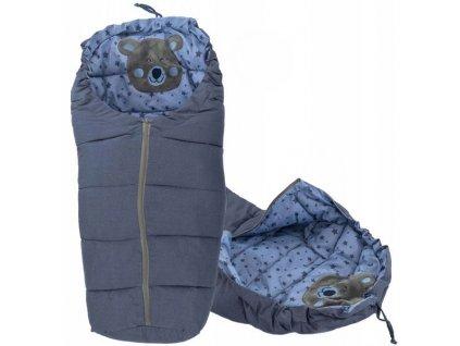 Dětský spací pytel 90 x 47 cm - Medvěd modrý