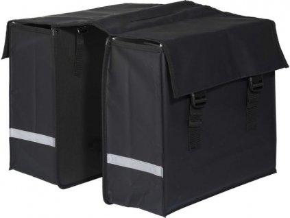 Dvojitá taška na kolo / černá / nepromokavý materiál