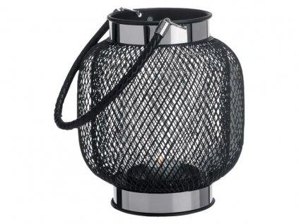 Elegantní drátěná lucerna Melinera Windlicht - Černá