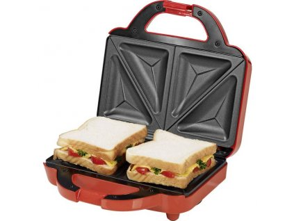 GourmetMaxx 07842 Sendvičovač 750 W / toustovač - červený