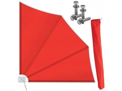 Kesser boční markýza s držákem / 140x140 cm / červená