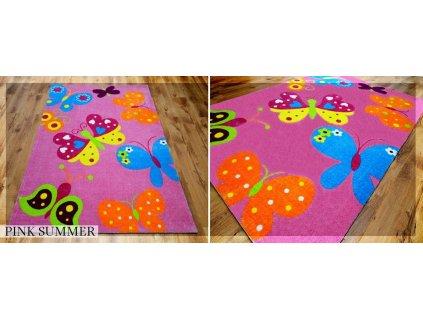 Koberec LOVELY-KIDS 165 x 235 cm - SUMMER PINK