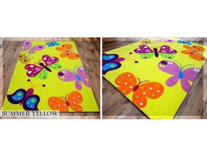 Koberec LOVELY-KIDS 165 x 235 cm - SUMMER YELLOW