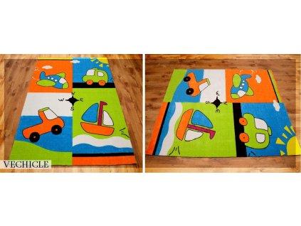 Koberec LOVELY-KIDS 200 x 300 cm - VEHICLE
