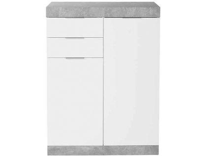 Luxusní komoda EmaHome - 80 x 107,5 x 35 cm bílá + beton