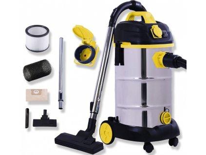 MASKO Průmyslový vysavač /mokrý / žlutý / max 1800 W