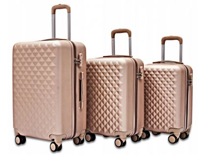 Pevný kufr na kolečkách 35 l - Zlatý