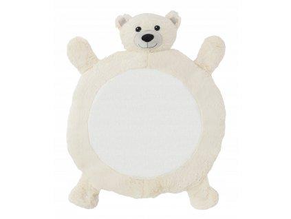 Plyšová podložka pro děti 78 x 67 x 5 cm - Medvěd