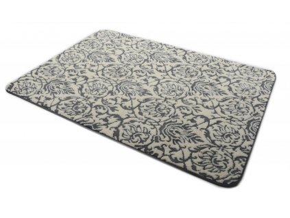 Plyšový koberec 3D 120 x 170 cm - BARCELONA šedý