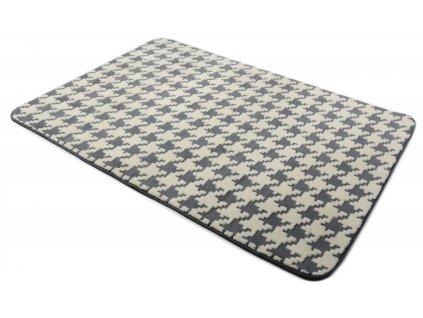 Plyšový koberec 3D 120 x 170 cm - Šedý