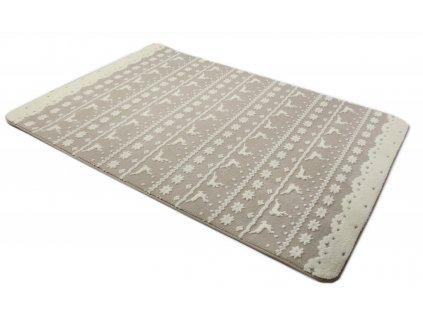 Plyšový koberec 3D 140 x 200 cm - BERGEN béžový