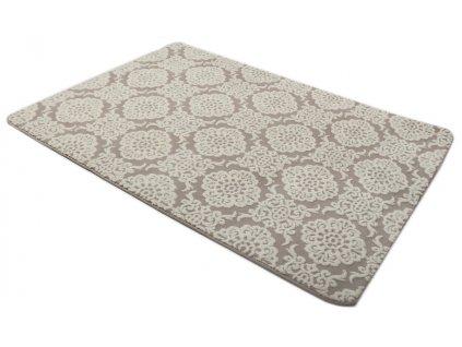 Plyšový koberec 3D 140 x 200 cm - BOLONIA béžový