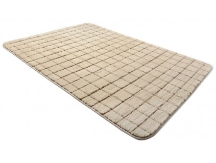 Plyšový koberec 3D BRICK 140 x 200 cm - Cappuccino