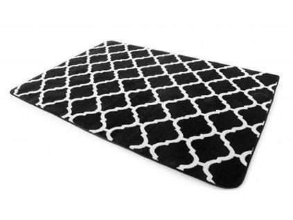 Plyšový koberec 3D MAROKO 200 x 300 cm - Černý