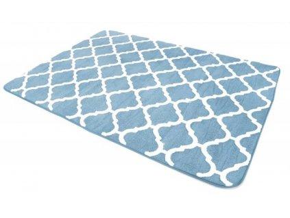 Plyšový koberec 3D MAROKO 200 x 300 cm - Modrý