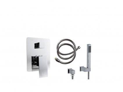 Podomítková sprchová baterie v sadě se sprchovou soupravou RAINFORCE - Stříbrná
