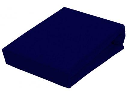 EmaHome - Prostěradlo Piruu Jersey 90x200 cm - Námořnická modř 312