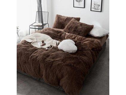 Přehoz na postel ELMO 150 x 200 cm - Hnědý