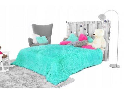 Přehoz na postel ELMO 200 x 220 cm - Modrá tráva