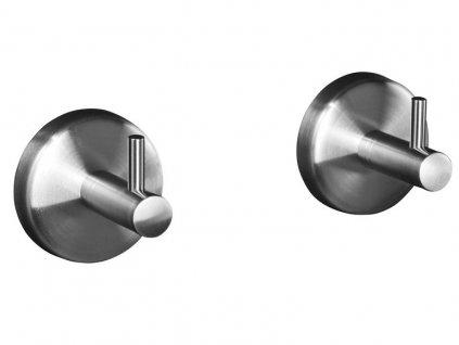 Sada dvou háčků do koupelny EmaHome - Nerez