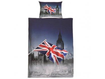 Sada ložního povlečení na dvě postele 140x200 cm - motiv Anglie