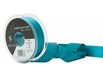 Saténová stuha 25 mm Malibu blue 20m