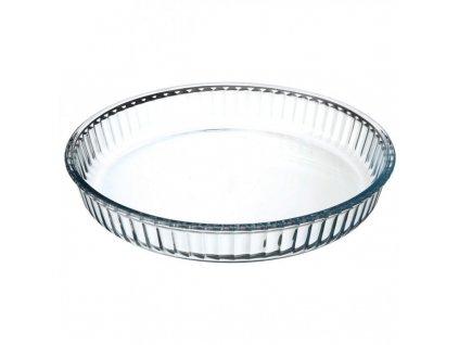 Skleněná zapékací koláčová mísa Borcam 59044 o průměru 26 cm